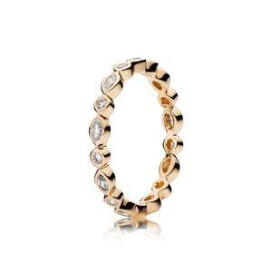 Pandora Gold Brilliant Marquise Ring